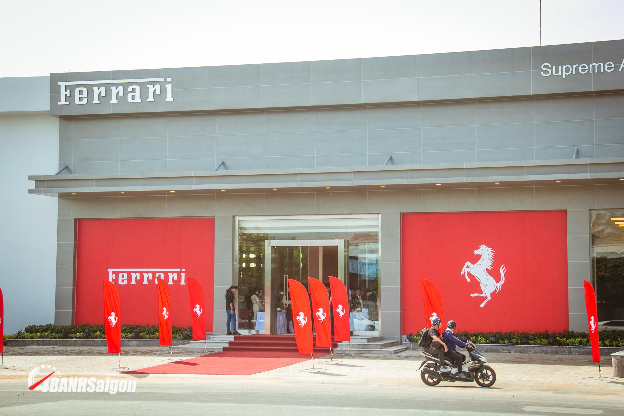 Showroom Ferrari Vietnam tọa lạc tại Khu chế xuất Tân Thuận, Quận 7 TPHCM